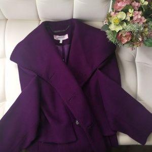 Rare purple 🍆 wool long coat